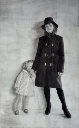 Ellas - madre e hija - 190x130cm - detalle 1